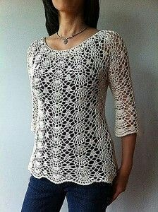 crochet blouse patterns Ada - lacy shells top Crochet pattern by Vicky Chan Designs Crochet Top Pattern Summer Lacy Shells Stitch For A Flattering Fit This semi-fitted top is worked ❤~Crochet இڿڰۣ-ڰۣ— ❀ ✿ Make It Crochet Poncho Au Crochet, Mode Crochet, Crochet Shirt, Crochet Gratis, Crochet Bodycon Dresses, Black Crochet Dress, Crochet Lace, Knitting Patterns, Crochet Patterns