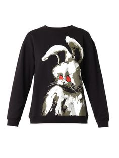 Love this: McQ by Alexander McQueen Black Angry Bunny-print Sweatshirtt @Lyst #LaPETITEBlog