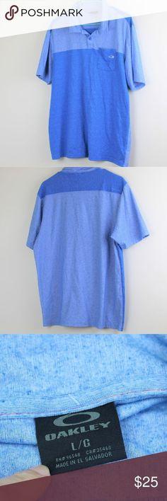 Oakley Poloshirt Herren große melierte blaue Tasche Oakley Poloshirt Herren  große - Tischdeckenda -  blaue 0ae5446bf0