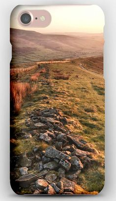 iPhone 7 Case Stones, Hills, Valley, Pastures, Fields, Protection, Evening