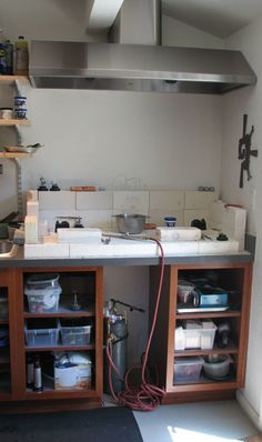 Jatayu: Connie Fox Metal Fabrication Studio Tour - Soldering Station - My soldering station can look like this since I have the bricks... but where to put it!!