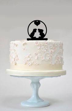 This Sweet Little Mermaid Silhouette Wedding Cake Topper is a tender and unique way of expressing your love on your special day. This is a one time