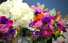 Colorful boquet for a Raleigh North Carolina wedding  Photography by Sally Siko of Silvercord Event Photography