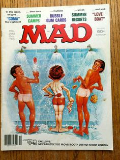 Mad Magazine Naked in Shower This Issue Oct 1978 by LeftoverStuff