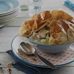 Chicken, ham and leek pie Ham And Leek Pie, Weber Recipes, Easy Weekday Meals, Savory Tart, Bite Size, Pie Dish, Chicken Ham, Frittata, Baking