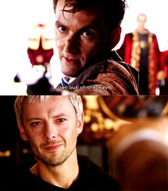 The Doctor and The Master - I love Doctor Who.  I hadn't gotten the channel with Doctor Who and I didn't even know that The Master had returned!  I'm buying the DVDs now.                     I watched this scene on YouTube and got all teary-eyed.  Actually, just thinking about it just makes me teary-eyed.