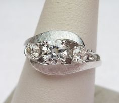 14k 70pts 3 Stone Vintage Ring by KlinesJewelry on Etsy