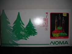 NOMA Bubble Lights w Light String of 7 + 3 bonus replacement Christmas bulbs NOS
