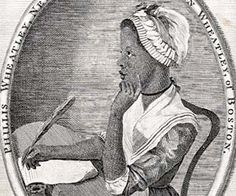 """Phillis Wheatley ,author of the book """"Poems on various Subjects,Religeous and Moral""""which brought her not only freedom ,but also recognition."""