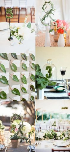 enchanted greenery wedding table number ideas