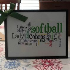 Gifts for softball team!