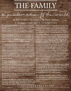 """In a world where marriage is imperiled and the traditional family is attacked, one inspired document in particular provides clarity and guidance. Modern prophets and apostles say """"The Family: A Proclamation to the World"""" http://facebook.com/189155347799517 is even more relevant today than when it was first issued in 1995. http://lds.org/ensign/2013/09/still-a-clarion-call #FamilyProclamation #LivingProphets #Gender #Marriage #Family #Parents #Children #JesusChrist #ShareGoodness"""