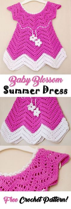 Try this cute baby blossom crochet summer dress for free from my blog! Check out my free crochet patterns and video tutorials!