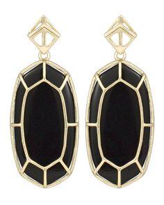 Della Statement Earrings in Black - Kendra Scott Jewelry