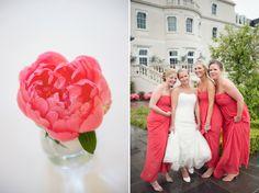 Coral Wedding Theme | Paul & Jo ~ Coworth Park Wedding Preview | Surrey Wedding Photography