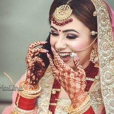 Joyous Bride's Smile!   Makeup artist @inderkaurmakeup   #bridalmakeup #bridalmakeover #weddingmakeup #weddingmua #makeupartist #makeup #mua… Bridal Make Up, Wedding Make Up, Bridal Makeover, Indian Bridal Makeup, Makeup Yourself, Princess Zelda, Artist, Bride, Photography