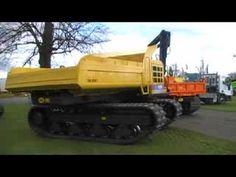 14 tonne tracked dumper with swivel skip rotating through 36 - YouTube