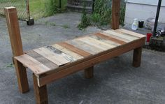 Instructions for how you might build a tailgate bench