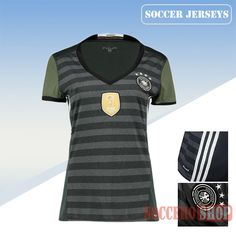 Nice Fitted Germany Grey 2016/17 Away Womens Soccer Jersey Clearance From China
