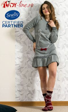Camasa de noapte Snelly L'Originale din 'punto milano' bumbac 50% si poliester 50%, calitate superioara. Milano, Pajamas, Lady, Sweaters, Dresses, Fashion, Interiors, Pjs, Vestidos