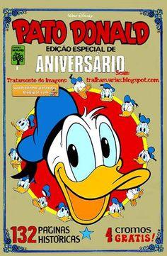 """Pato Donald - Edição Especial de Aniversário : 50 Anos Com a primeira história introdutória e clássicos de Carl Barks, entre eles """"Os Ovos Quadrados"""", esse gibi é inesquecivel..."""
