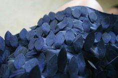 Dark Blue Petals Dress