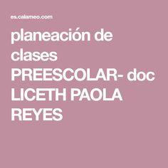 planeación de clases PREESCOLAR- doc LICETH PAOLA REYES