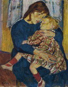 Mela MUTER (1876-1967) - soeur et frère, 1914 - Verso : Nature morte avec kalla Mela Muter, pseudonyme de Maria Mélania Mutermilch, née à Varsovie en Pologne en 1876, et morte à Paris en 1967