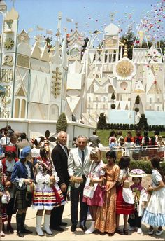 It's a Small World, opening day, Disneyland, May 28, 1966.