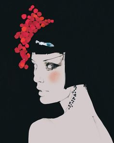 Fashion illustrations by David Downton (13 photos) - Xaxor