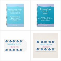Crafts - office items, notebooks, tags etc for crafters, all available to buy from Zazzle