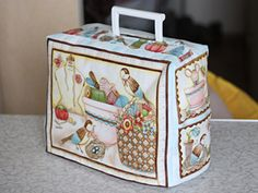 Case for sewing machines lined