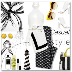 How To Wear Black & Yellow..2nd Top Fashion Set.. Outfit Idea 2017 - Fashion Trends Ready To Wear For Plus Size, Curvy Women Over 20, 30, 40, 50