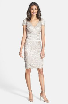Tadashi Shoji Sequin Embellished Sheath Dress available at #Nordstrom