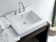 ACQUAGRANDE 60 Inset washbasin by CERAMICA FLAMINIA design Giulio Cappellini, Roberto Palomba
