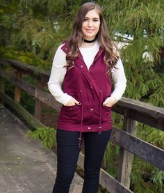 "You NEED this vest for your Fall wardrobe! Get our ""Into the Woods Vest"" at AthenaAttire.com"