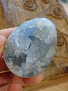 """Celestite Geode Egg Carving~ AVAILABLE:"