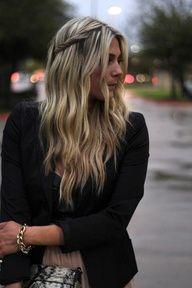 twist & waves - boho hair wish I had hair!