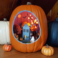 Pumpkin Diorama created by our winner Jen K.