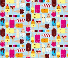Ice Cream fabric by verycherry on Spoonflower - custom fabric