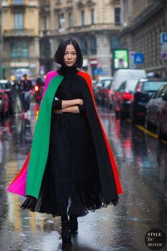 Milan Fashion Week FW 2016 Street Style: Yoyo Cao