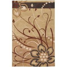 @Overstock - Cover your floor with this elegant hand tufted rug. This area rug has hand-carved details with a floral design. It is made of 100-percent wool and offers a soft, plush pile. The colors include brown, tan, beige, brown, charcoal and ivory.http://www.overstock.com/Home-Garden/Hand-tufted-Austin-Floral-Wool-Rug-76-x-96/6183083/product.html?CID=214117 $374.99
