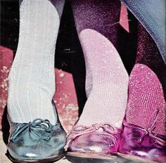 superseventies: Metallic ballet flats and glittery tights forSeventeenmagazine, 1977. You have no idea how badly I wanted a pair of these shoes when I was in jr. high...