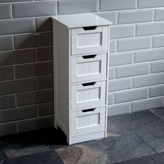 Bathroom 4 Drawer Cabinet Storage Cupboard Wooden White Unit By Home Discount in Home, Furniture & DIY, Furniture, Cabinets & Cupboards | eBay!