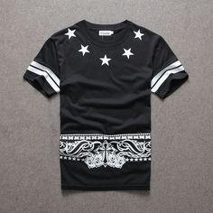 Newest 2017 men's fashion short sleeve star 09 printed t-shirt Harajuku funny tee shirts Hipster O-neck cool tops T Shirt 3d, 3d T Shirts, Rock T Shirts, Funny Tee Shirts, Casual T Shirts, Men Casual, Shirt Men, Shirt Print Design, Shirt Designs