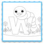 Animal+Alphabet+Letter+W+is+for+Worm!+Here's+a+simple