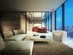Penthouse in Singapore with indoor car park