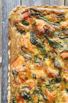 Quiches, Food To Make, Salmon, Food And Drink, Breakfast, Diet Ideas, Jr, Vegetarian, Recipes