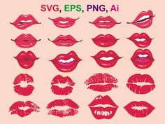Lips Illustration, Kissing Lips, Funny Face Mask, Face Masks, Print And Cut, Cartoon Drawings, Silhouettes, Cricut, Clip Art