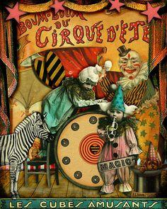 circus poster via Flickr, Pinkadoo